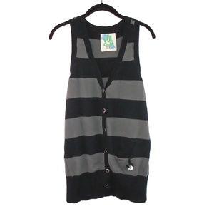 Volcom Sleeveless Tank Sweater Button Down XL